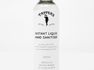 Tappers Instant Liquid Hand Sanitiser (200ml) - white background