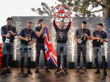 British Sail GP Tea Celebrating Sydney Harbour Win