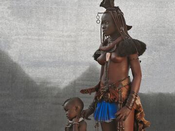 Ovahimba Mother & Child, Southern Angola, 2015