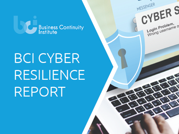 Front cover illustration of the BCI Cyber Resilience Report 2017