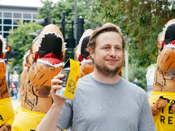 Andrew with the Tea Rex, credit Tea Rex