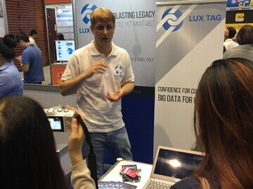 LuxTag at a recent exhibition in Bangkok