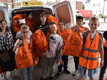 Each child gets an LTCFC branded rucksack before heading home