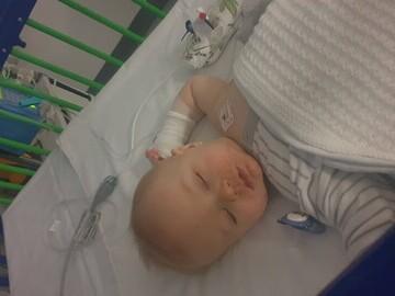 Charlie in hospital