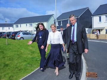 05 Development Manager Amy Jenkin and Col Edward Bolitho accompany HRH on a walk around the development