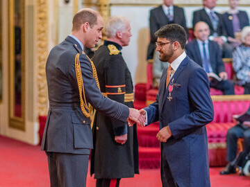 Saeed Atcha MBE DL with HRH The Duke of Cambridge