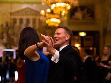 City Academy leading the ballroom dance at Prestigious Star Awards 2018