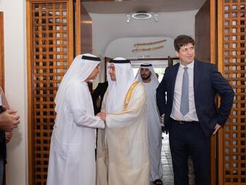HE Dr. Hamed Mohamed Bin Khalifa Yousef Al Suwaidi and Nicholas Lubin