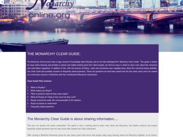 MonarchyClearGuide Website Screen Shot