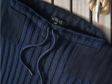 Navy Army Sweater by N.Peal