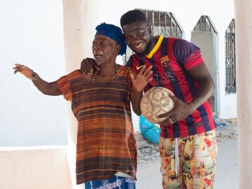 Lamin with grandma