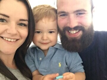 Mark and Poppy with their two-year-old son David