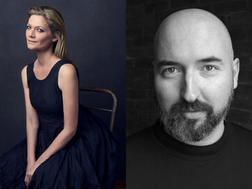 Actor and writer Sophie Ward and Booker Prize winner Douglas Stuart (photographers Leo Holden and Douglas Pickersgill)