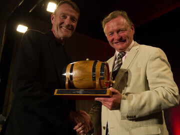 Lee Child, winner of the Outstanding Contribution to Crime Fiction Award and Simon Theakston