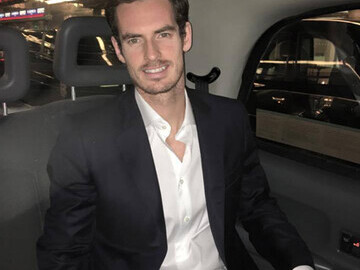 Andy Murray inside the LTA cab