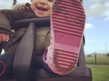 Pollyanna having fun in her local park