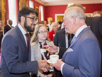 Saeed Atcha MBE DL with HRH The Prince of Wales