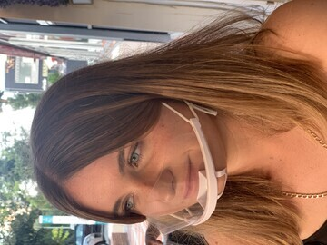 Young Woman Wearing ClearShield Mask