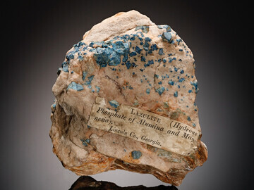 Lazulite, Graves Mountain, Lincoln County, Georgia, USA - from the John Ruskin Collection