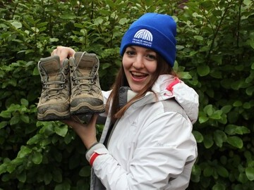 Rachel Astill of Francis House preparing for New Year Winter Wander hospice challenge