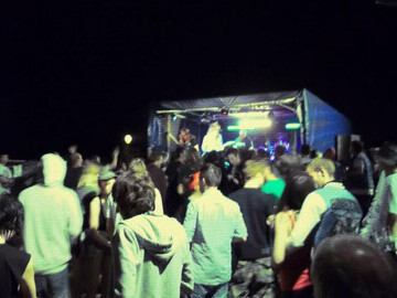 the crowd and stage at Sunk Fest