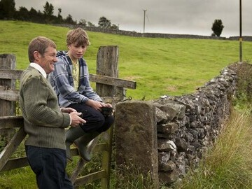 Yorkshire Dales ranger (Alan Gibson) with bereaved teenager Tom Proctor (Bretten Lord)