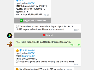 CryptoPing Bot in Action
