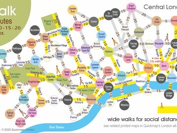 London Surface Diagram – Central Area Walk with Social Distancing