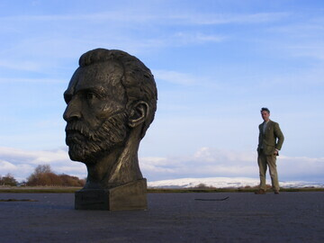 3 Artist Anthony Padgett with his bust of Van Gogh