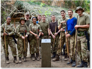 Students from East Midlands Universities' Air Squadron (based in Beeston, Nottingham) in the South American Guyanese jungle