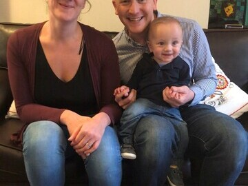 Alexander with parents Vicky and Daniel