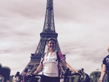 Nikki completed her challenge to Paris