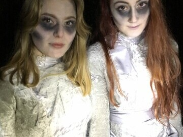 Volunteers from the local university dress up and use special makeup techniques to scare participants