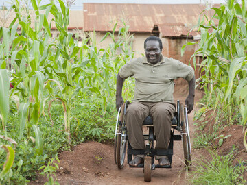 Moses, Uganda, in his Motivation Rough Terrain