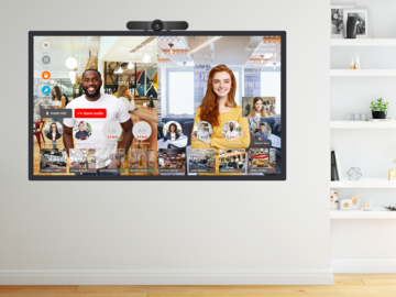 Video Window connected to offices and remote workers
