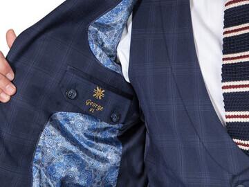 Chelsea Check Navy 3 Piece Suit 3