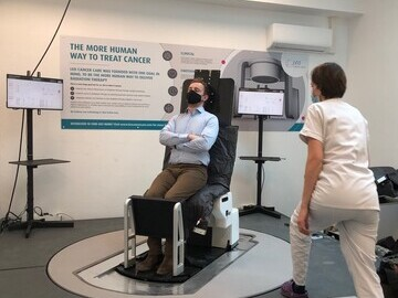 Initial Testing Being Conducted on Leo Cancer Care's Upright Patient Positioning System by Sophie Boisbouvier, Radiographer from CLB