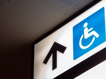 Disability directional sign