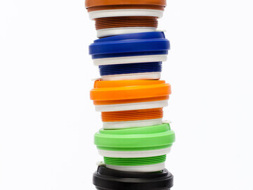 A tower of stacked Pokito cups