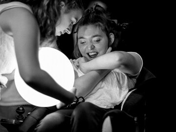 Anna James (left) and Jodie Turner (right) performing in Lit aDrift.