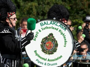 The Balaklava Pipes and Drums entertained the crowds throughout the day.
