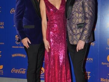 Gary Cockerill, Nell McAndrew, Phil Turner at the British Curry Awards 2019
