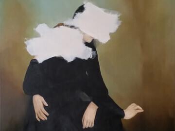 Wanda Bernardino, Daydreamers (2015), oil on canvas, 259.1 x 284.5 cm