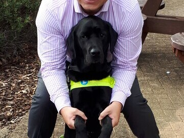 Dan Williams and his Guide Dog Zodiac - high res