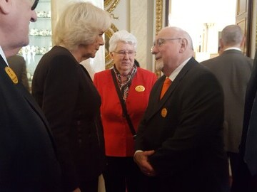 LTCFC Commitee Member Larry Abrahams talking to HRH The Duchess of Cornwall