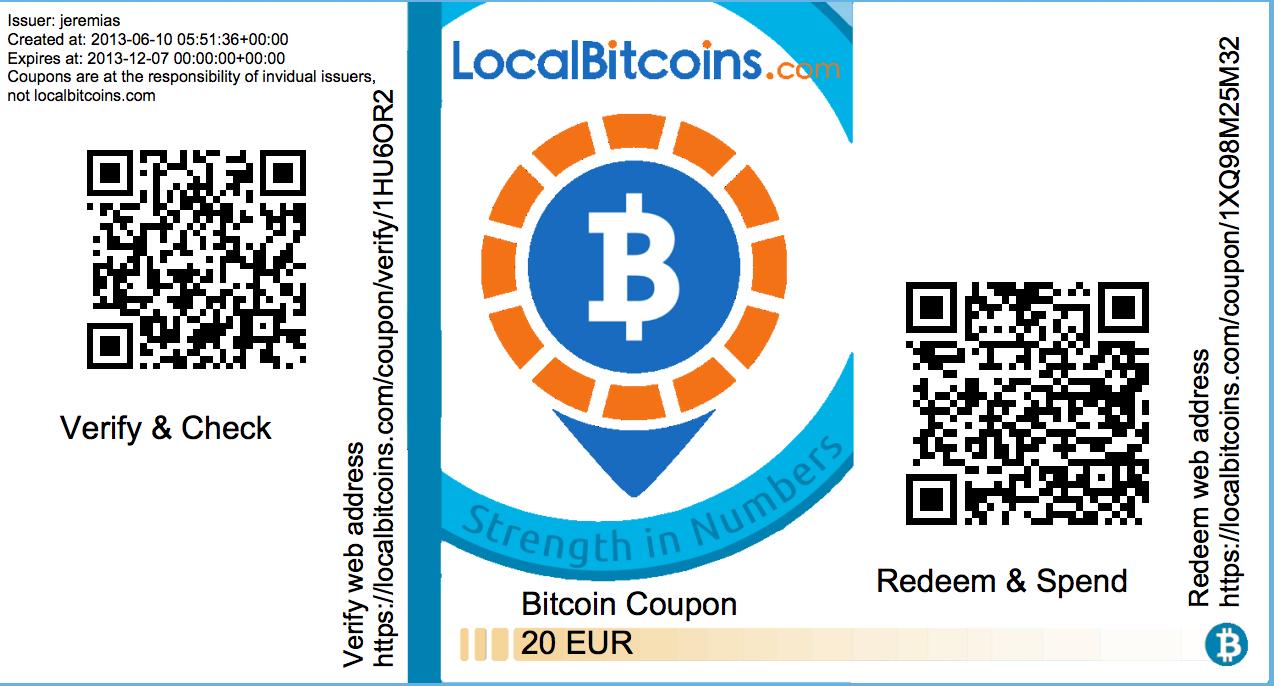 bitcoin cupon