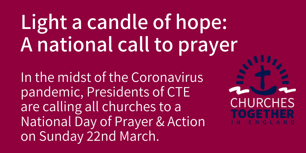 'Churches Together in England' Issues National Call to Prayer On Sunday, March 22