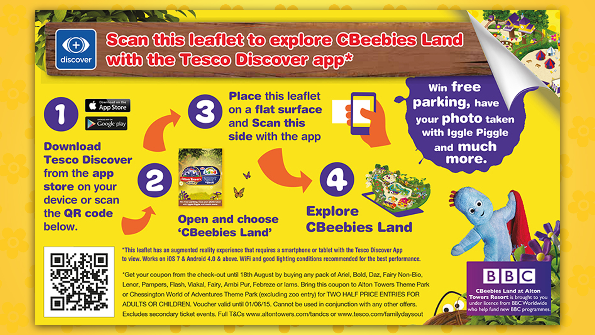Procter gamble and tesco team up to deliver immersive mobile pg tesco discover alton towers cbeebies land 3d interactive ar map ec gumiabroncs Choice Image