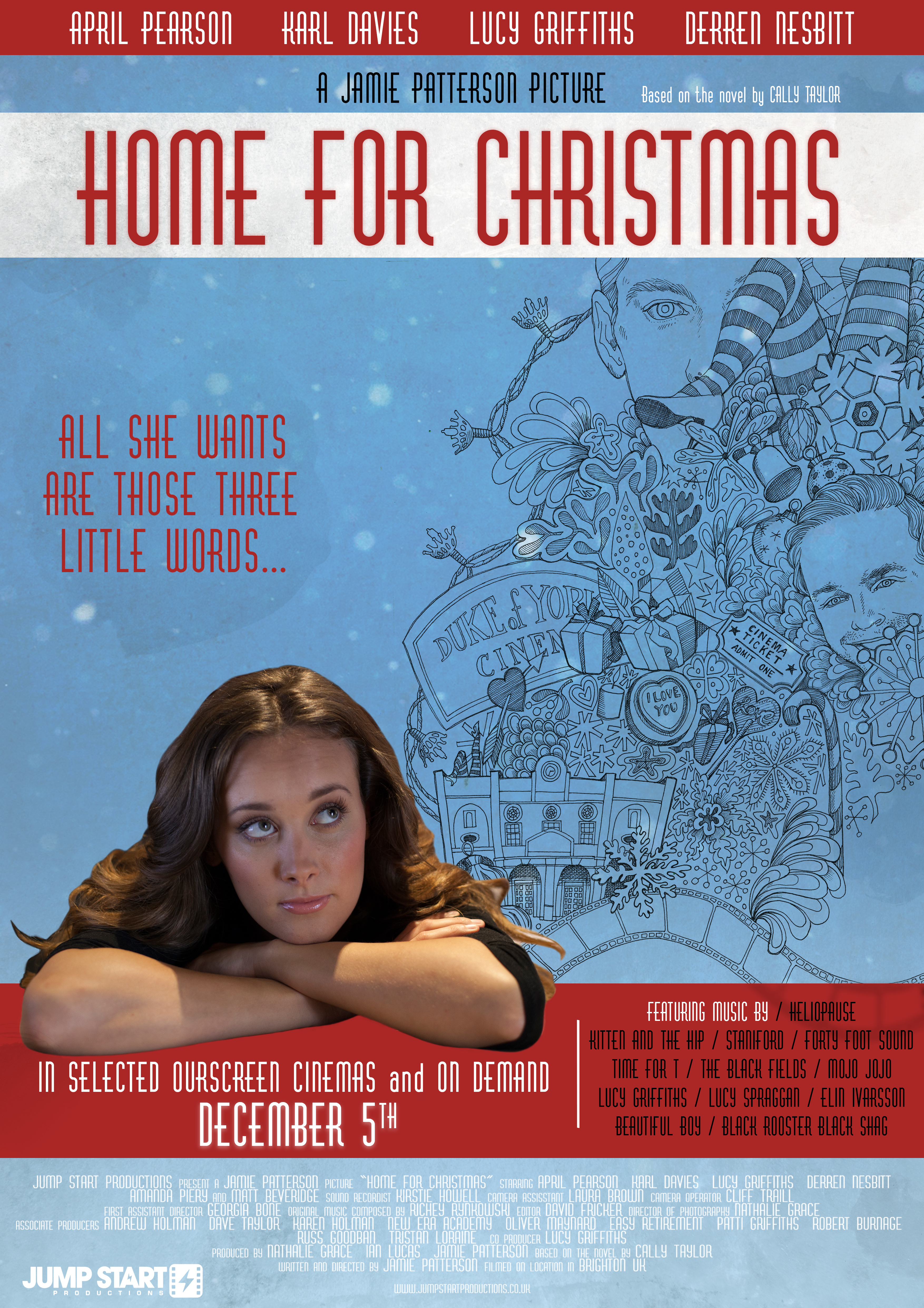 official film poster official film poster april and karl in home for christmas - Home For Christmas 2002