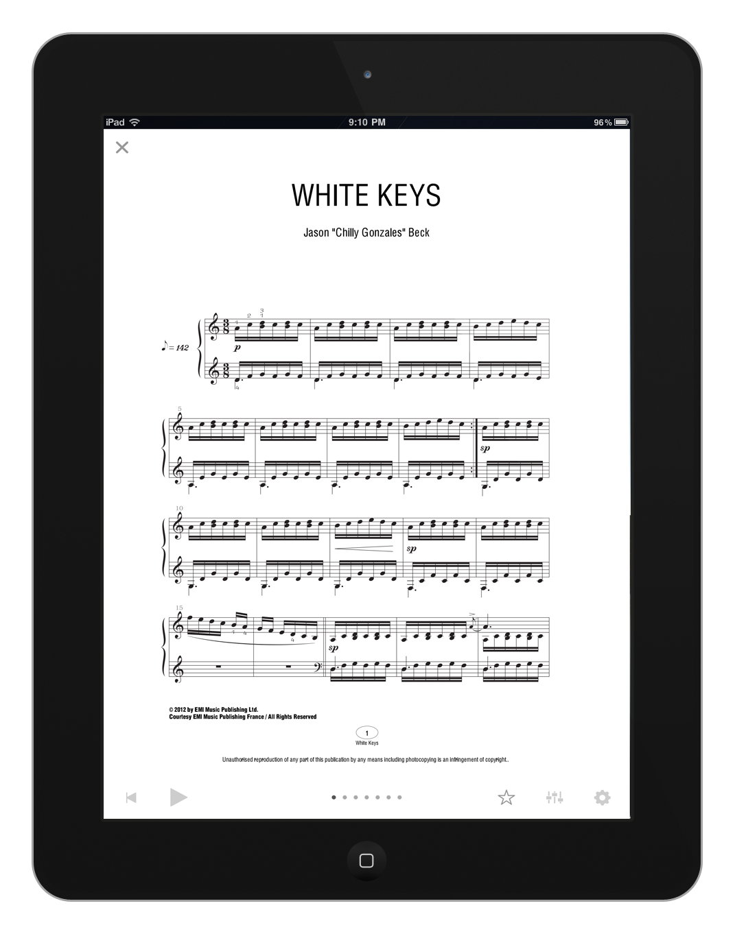 white keys chilly gonzales sheet music pdf